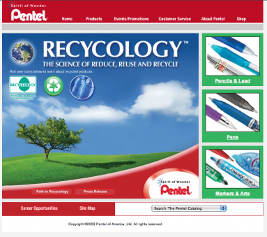 Pentel U.S.A.: Recycology Website